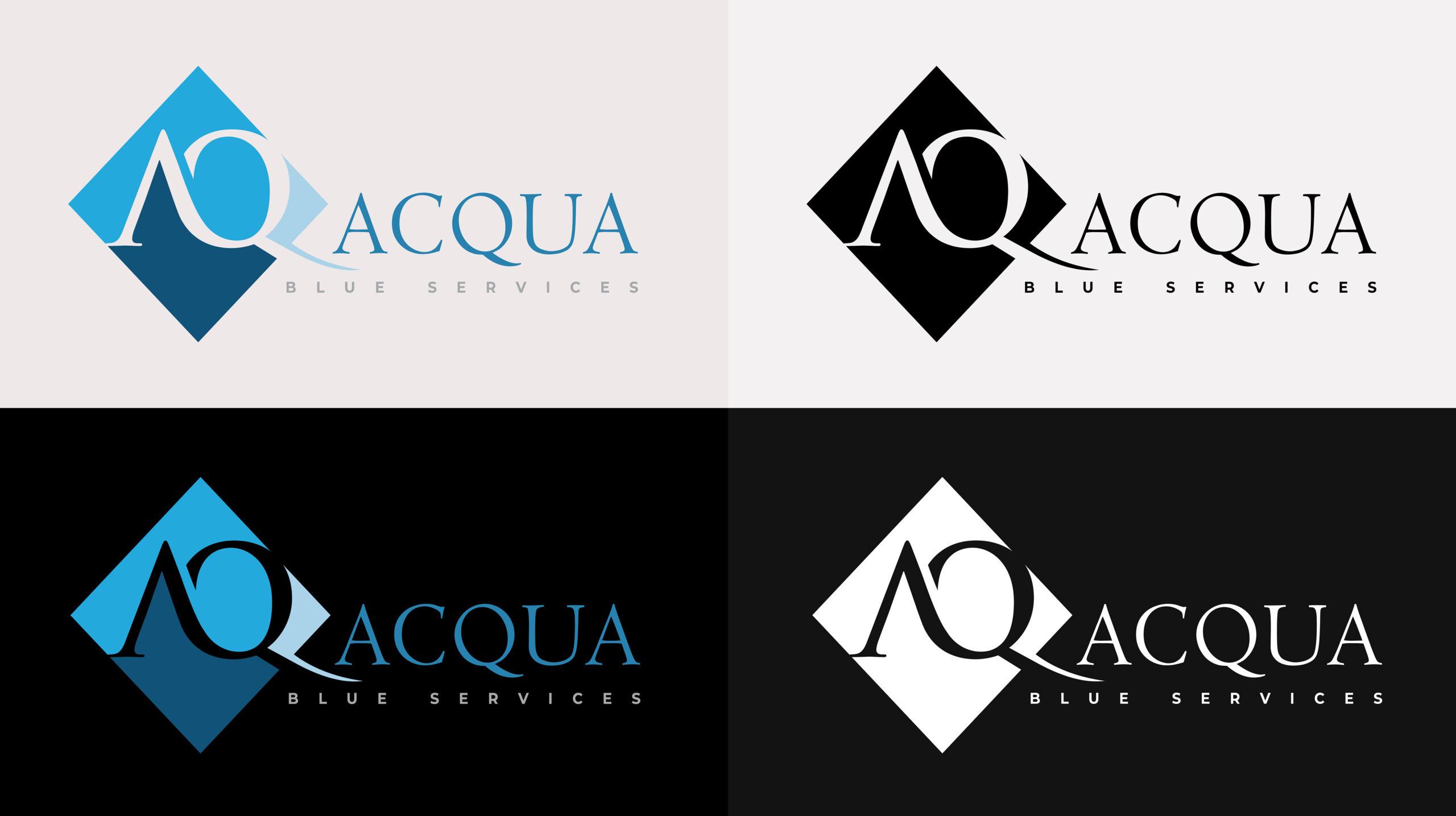 acqua-blue-services-logo-variants