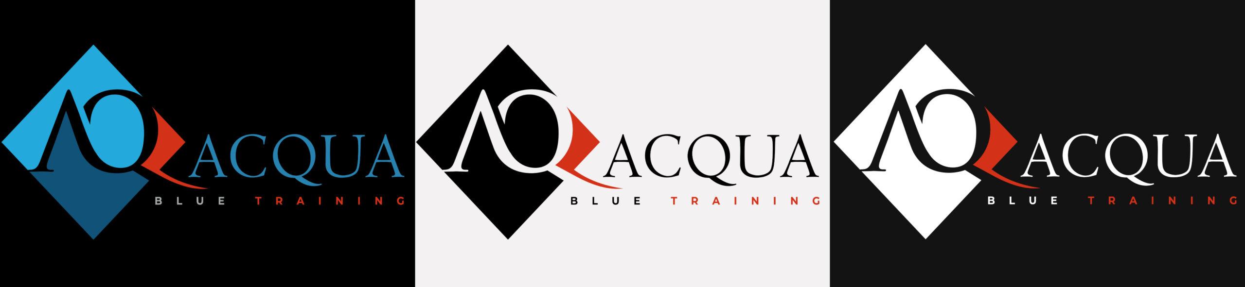 acqua-blue-training-logo-variants