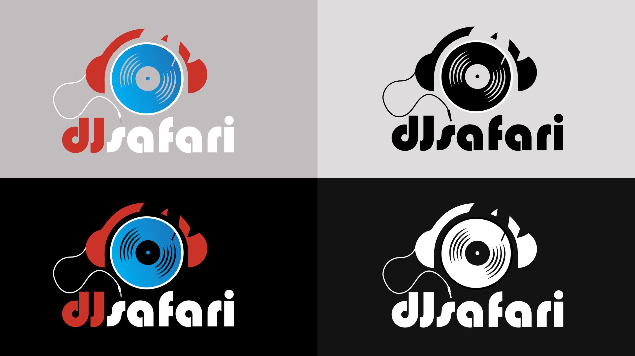 dj-safari-logo-variants